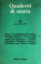 QUADERNI DI STORIA n. 15 GENNAIO-GIUGNO 1982 EDIZIONI DEDALO