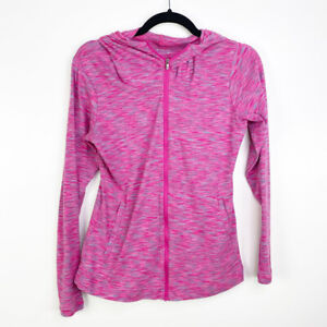 Columbia Women's Heathered Pink OuterSpaced Full Zip Hoodie Jacket Size Small