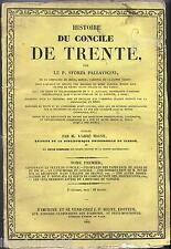 Histoire du concile de Trente  Pallavicini Migne TOME 1 non coupé 1844
