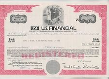 1971 U.S. FINANCIAL DEBENTURE CERTIFICATE  - CALIFORNIA
