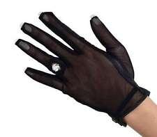 Ladies Women Full Solar Tan Nail Ring Golf Gloves Small Left Hand Black Gift