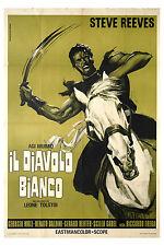 manifesto 2F orig. AGI MURAD IL DIAVOLO BIANCO Riccardo Freda Steve Reeves 1972