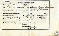 ESTE PADOVA, RICEVUTA D'IMPOSTAZIONE 1867             m