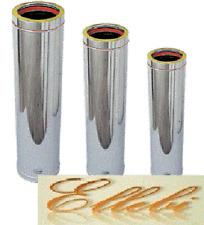 Tubo inox doppia parete per canna fumaria  Ø 130 interno Ø 180 esterno  mm 1000