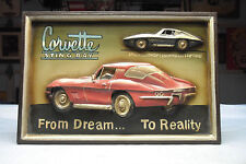 Corvette Stingray (Concept Car) - Bas-Relief Plaque Wall Hanging