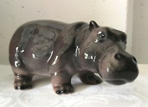 exklusive Dekofigur NILPFERD / Hippo 22cm  Design Italien Keramik handmade