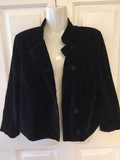 Isaac Mizrahi Target Vintage Boho Black Velvet Jacket Blazer Festival Coat Small