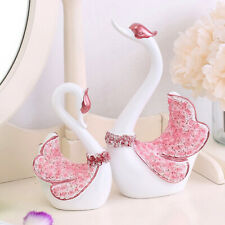 2pcs Swan Lover Statue Tierskulptur Ornamente Wohnaccessoires Dekor