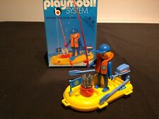 Playmobil vintage 70s/80s 3574 fisherman and boat complete and boxed