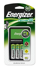 Energizer Maxi AA /AAA Charger + 4 AA 1300 mAh Rechargeable Batteries Brand New
