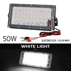 50W DC12V  LED Flood Light Cool white  Yard Football Garden Lamp electric chip