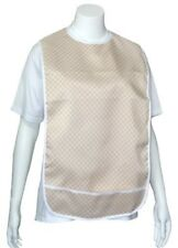 Adult Vinyl Adult Bibs with Crumb Catcher - Blue Style #5 - 3 Pack