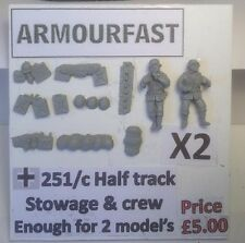 Early War 20mm (1/72) Armourfast German Sd Kfz 251/1 Stowage Set (2 Vehicles)