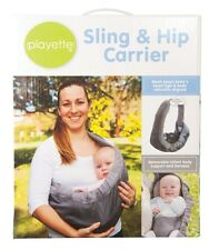 Playette Baby Infant Toddler Sling Hip Carrier Grey Pouch Wrap Modes Backpack