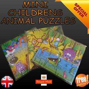 Puzzle Mini Childrens Animal Jigsaw Puzzle Learning Educational Stocking Filler