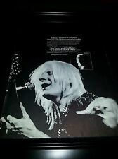 Johnny Winter I'm Yours and Hers Rare Original Promo Poster Ad Framed!