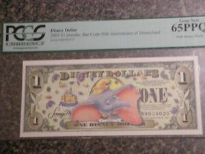 DISNEY Dollar 2005  $1 Dumbo: Bar Code 50th Anniversary of Disneyland PCGS 65PPQ