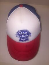 Pabst Blue Ribbon PBR Red White and Blue Trucker Hat Cap