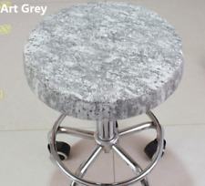 "10Pcs 14"" Bar Stool Covers Round Chair Seat Cover Cushions Sleeve Art Grey"
