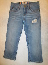 Juicy Couture Stretch Womens Cropped Capri Jeans Size 27 x 21 Mint USA