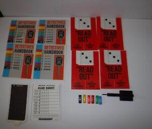 1972 Milton Bradley MANHUNT Game #4235 Replacement Parts Clue Sheet Scanner Card