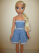 Homemade Dress for Frozen Elsa and Anna Dolls, 38 inch tall doll.