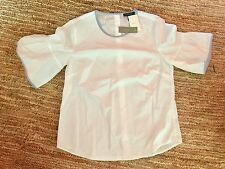 J.Crew NWT Button Back Bell Sleeve Top, 0