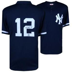 """WADE BOGGS Autographed """"HOF 05"""" New York Yankees Practice Jersey FANATICS"""