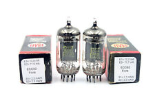 ECC82 / 12AU7 Fivre long plates matched pair Vacuum Tube, Valve, NOS NIB, tested