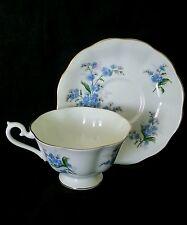 Vintage Royal Albert England bone china tea cup & saucer ca 1960's Forget me not