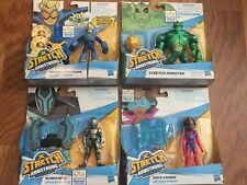 Lot of 4 Stretch Armstrong and the Flex Fighters Monster Blindstrike Walmart