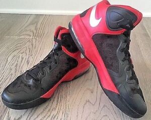 Nike Max Air Hyper Guard Red Black Basketball Shoes Men 13 Rare HTF #332