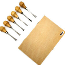 6PCS Wood Carving Hand Chisel Tools Set Kit Professional Gouges With Wooden Box
