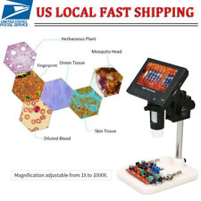 "1000X 5MP Microscope 4.3"" LCD Display 8LED Digital Magnifier with Holder New"