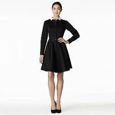 Kate Spade Black & White shirt dress with collar 2 (UK 8)