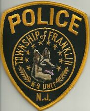 K-9  DHF NEW JERSEY FRANKLIN TOWNSHIP Police Patch Polizei Abzeichen Hundeführer