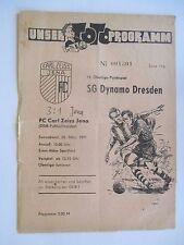 Pr104 PROGRAMM FC CARL ZEISS JENA  DYNAMO DRESDEN 1971 DDR Oberliga DFV Fußball