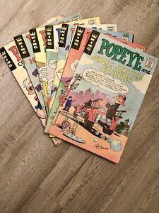 Lot of Popeye Careers Comic Books