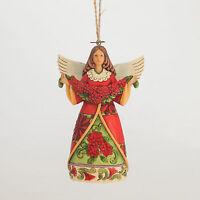 Jim Shore Poinsettia Angel Christmas Ornament ~ 4047795