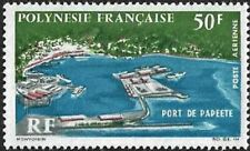 """1966 """"French Polynesia"""" Port of Papeete, Ships, Boats VF/MNH, CAT 26$"""