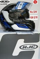 HJC TR-1 Skyride Motorcycle Helmet WITH SUNVISOR! NEW Yam Blue rrp$249 Road