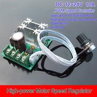 DC 12V 24V 10A High Power DC Motor Pump Speed Controller PWM Regulator Module