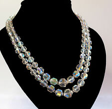 Crystal Necklace Vintage Costume Jewellery (Unknown Period)