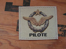 SNAKE PATCH - BREVET PILOTE armée de l'air - CHASSE BA vol AVION sable TAN