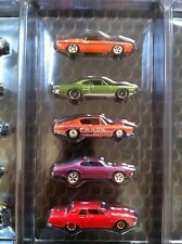 2011 HOT WHEELS FIVE (5) LOOSE Dodge PLYMOUTH MOPAR REAL RIDERS CUDA SUPER BEE