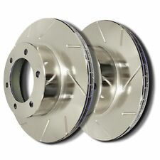 SP Performance T55-58-P Slotted Brake Rotors Zinc Plating L/R Pr Front