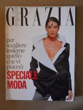 GRAZIA Rivista di moda n°2641 1991 copertina Monica Bellucci  [G64]