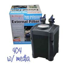 4-Stage EHEIM Style Aquarium Canister Filter 320gph Self Priming w/ filter media
