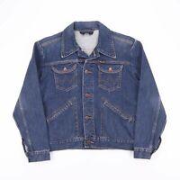 Vintage WRANGLER Indigo Blue Casual Classic Fit Denim Jacket Womens Size Medium