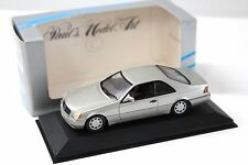 1:43 Minichamps Mercedes 600 SEC Coupe rauch silver boxed bei PREMIUM-MODELCARS